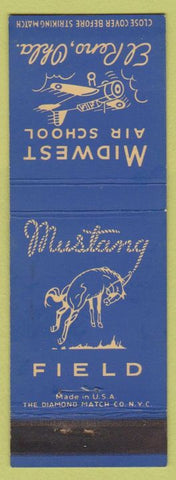 Matchbook Cover - Midwest Air School El Reno OK Mustang Field