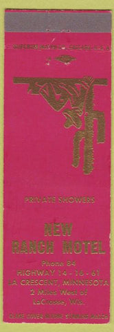 Matchbook Cover - New Ranch Motel LaCrosse WI cactus
