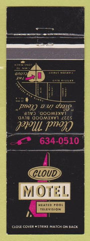 Matchbook Cover - Cloud Motel Lakewood CA