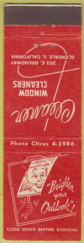 Matchbook Cover - Cleaner Window Cleaners Glendale CA