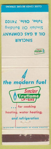 Matchbook Cover - Sinclair Oil Gas Tulsa OK