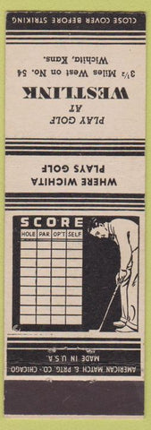 Matchbook Cover - Westlink Golf Wichita KS