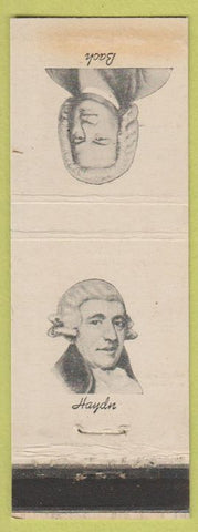 Matchbook Cover - Composers Bach Haydn Diamond Colgate WEAR