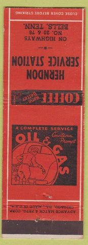 Matchbook Cover - Herndon Service oil gas Bells TN Advance