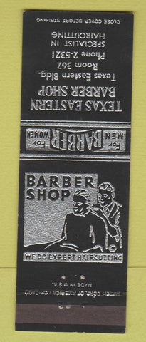 Matchbook Cover - Texas Eastern Barber Shop Houston? TX