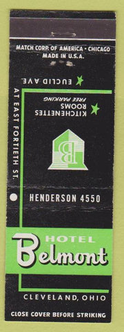Matchbook Cover - Hotel Belmont Cleveland OH