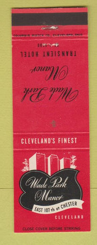 Matchbook Cover - Wade Park Manor Cleveland OH