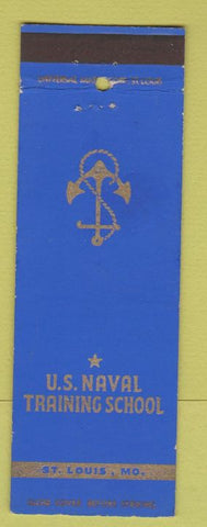 Matchbook Cover - Us Naval Training School St Louis MO