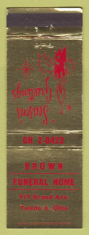 Matchbook Cover - Brown Funeral Home Toledo OH