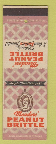 Matchbook Cover - Meadors Peanut Brittle girlie