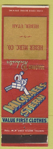 Matchbook Cover - Michaels Stern Men's Clothes Heber UT