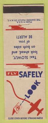 Matchbook Cover - Fly Safely WWII Taxi Slowly