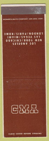 Matchbook Cover - CMA Los Angeles CA NYC Las Vegas SAMPLE
