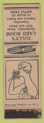 Matchbook Cover - Sully's Card Room Battle Creek MI WEAR