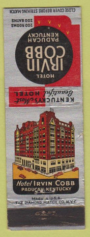 Matchbook Cover - Hotel Irvin Cobb Paducah KY