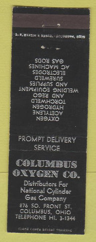 Matchbook Cover - Columbus Oxygen Co Columbus OH