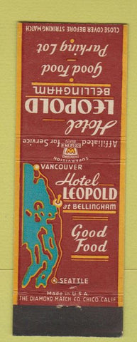 Matchbook Cover - Hotel Leopold Bellingham WA