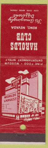 Matchbook Cover - Harolds Club Reno NV casino