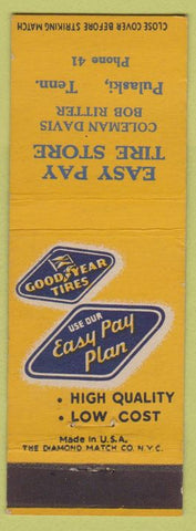 Matchbook Cover - Goodyear Tires Pulaski TN low phone #