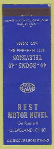 Matchbook Cover - Rest Motor Hotel Cleveland OH