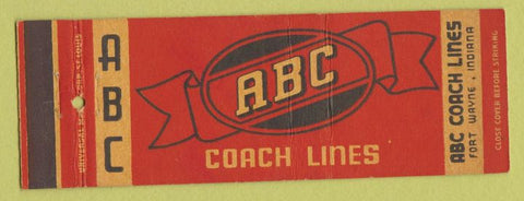 Matchbook Cover - ABC Coach Lines Fort Wayne IN
