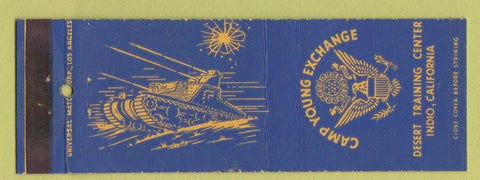 Matchbook Cover - Camp Young Exchange Military Desert Training Indio CA
