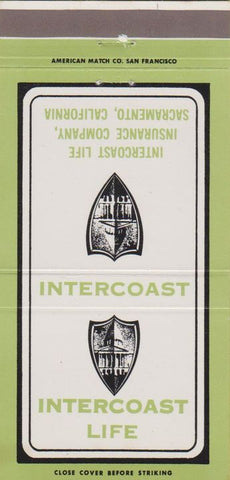 Matchbook Cover - Intercoast Life Insurance Sacramento CA 30 Strike