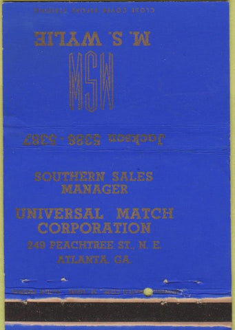 Matchbook Cover - Universal Match Corp Atlanta GA MS Wylie