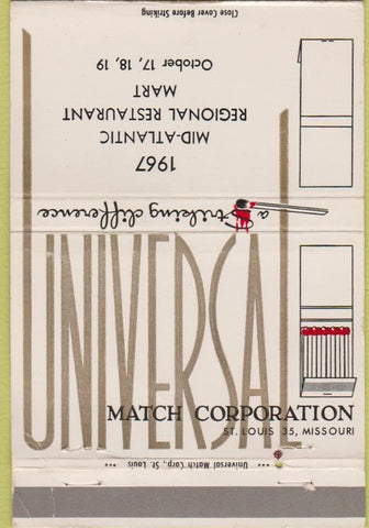 Matchbook Cover - Universal Match Corp St Louis MO 1967 WORN convention