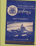 Matchbook Cover - Clearfield Naval Supply Depot Clearfield UT military postcard
