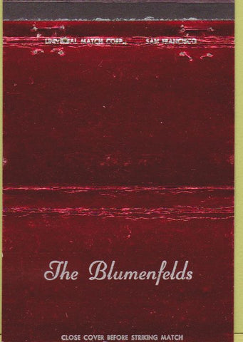 Matchbook Cover - The Blumenfelds family Custom 40 Strike