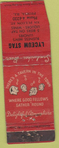 Matchbook Cover - Lyceum Stag Peoria IL POOR