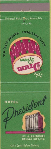 Matchbook Cover - Hotel President Kansas City MO