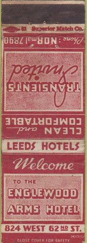 Matchbook Cover - Englewood Arms Htoel New York City WORN