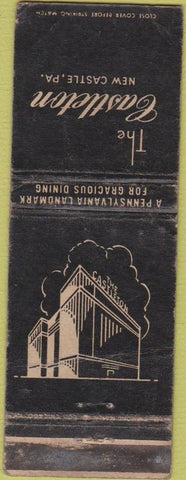 Matchbook Cover - Castleton Hotel New Castle PA WORN
