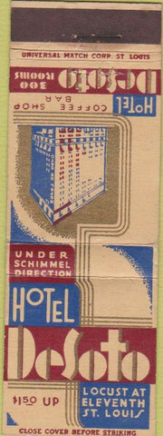 Matchbook Cover - Hotel DeSoto St Louis MO