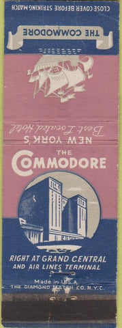 Matchbook Cover - The Commodore New York City WEAR