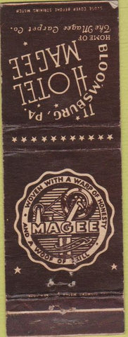 Matchbook Cover - Hotel Magee Bloomsburg PA WEAR