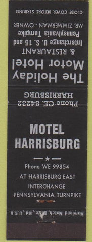 Matchbook Cover - Motel Harrisburg PA