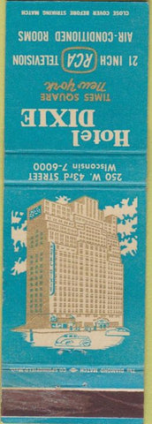 Matchbook Cover - Hotel Dixie New York City WEAR