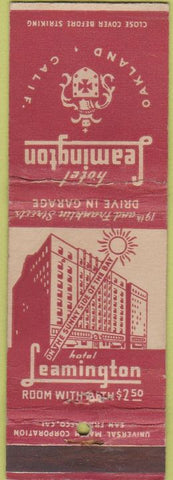 Matchbook Cover - Hotel Leamington Oakland CA WEAR
