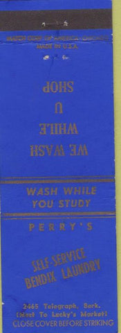 Matchbook Cover - Perry's Self Service Laundry Bendix Berkeley CA