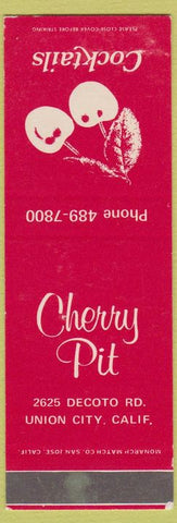 Matchbook Cover - Cherry Pit Union City CA SAMPLE