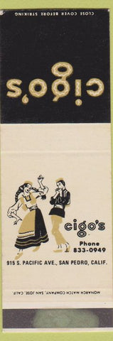 Matchbook Cover - Cigo's San Pedro CA girlie SAMPLE