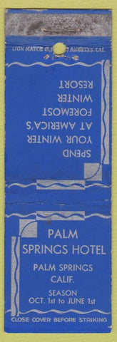 Matchbook Cover - Palm Srpings Hotel CA WEAR
