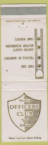 Matchbook Cover - Officers' Club Fiort Ord CA