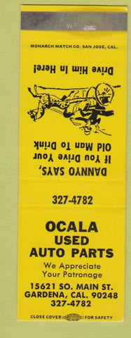 Matchbook Cover - Ocala Used Auto Parts Gardena CA SAMPLE