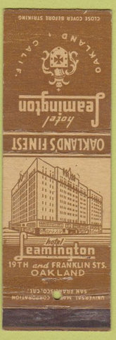 Matchbook Cover - Hotel Leamington Oakland CA