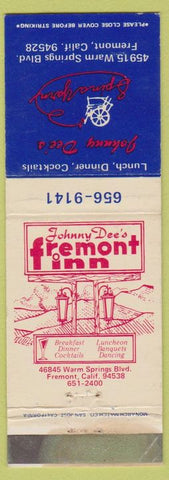 Matchbook Cover - Johnny Dee's Spina Yard Fremont CA