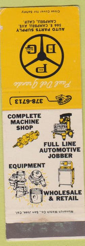 Matchbook Cover - Auto Parts Supply Campbell CA SAMPLE WEAR